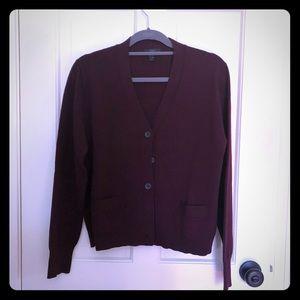 J. Crew Merino Wool Cardigan with Pockets XL